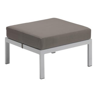 Cushion Outdoor Ottoman, Stone For Sale