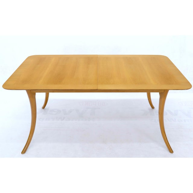 Mid-Century Modern light walnut dining table designed by Robsjohn Gibbing for Widdicomb. All in very clean original...
