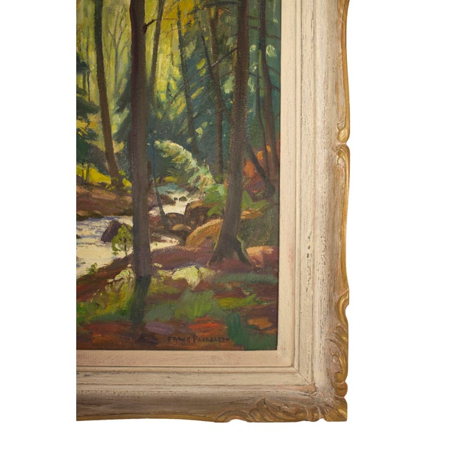 Wood Original Frank Shirley Panabaker Painting Oil on Masonite For Sale - Image 7 of 11