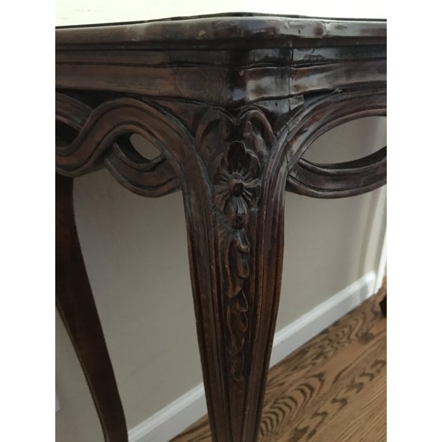 French Country Wooden Entry Table - Image 5 of 5