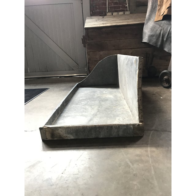 1950s French Zinc Basin For Sale - Image 4 of 4