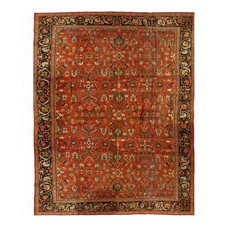 19th Century Antique Hand Knotted Sultanabad Rug For Sale