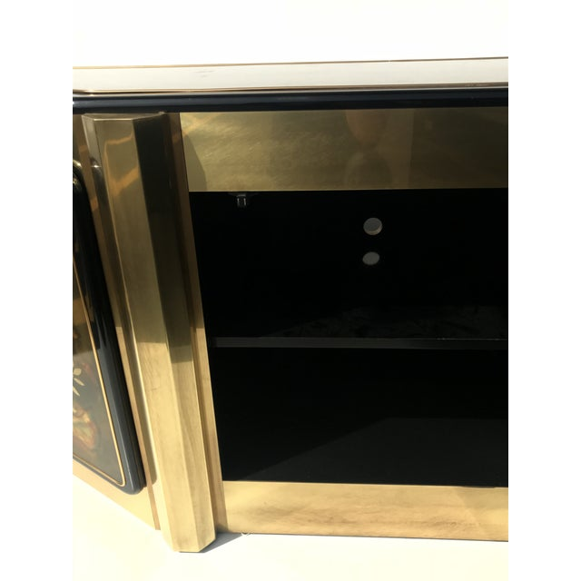 1970s Hollywood Regency Bernhard Rohne for Mastercraft Brass Credenza For Sale - Image 9 of 13