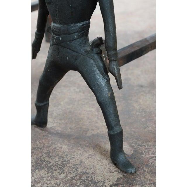 Vintage Cast Iron Figural Cowboy Andirons - A Pair - Image 7 of 9