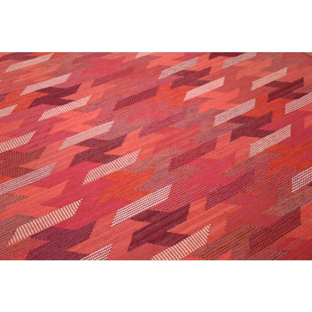 Textile Vintage Marta Maas Scandinavian Geometric Rug by Barbro Nilsson - 6′3″ × 8′2″ For Sale - Image 7 of 11