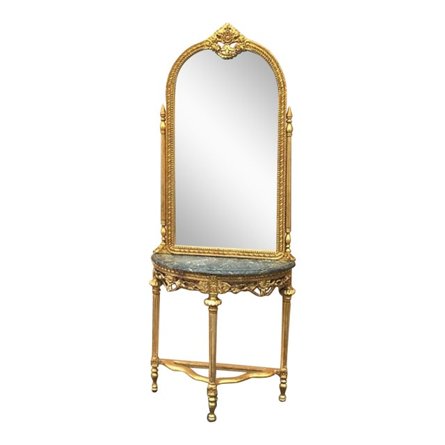 Louis XVI Style French Console & Mirror - Image 1 of 5