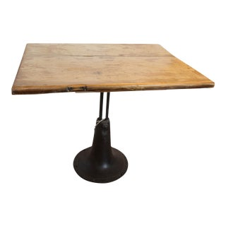 Vintage Wooden and Metal End Table For Sale