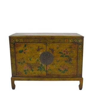 Chinese Style Yellow Cabinet For Sale