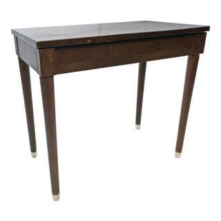 Mid Century Danish Modern Vanity Bench with Storage Seat