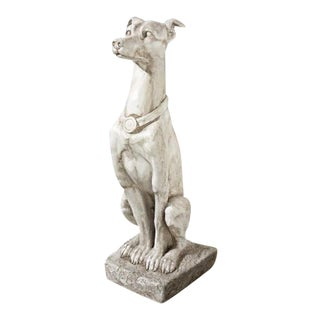 Vintage Art Deco Italian Greyhound Statue