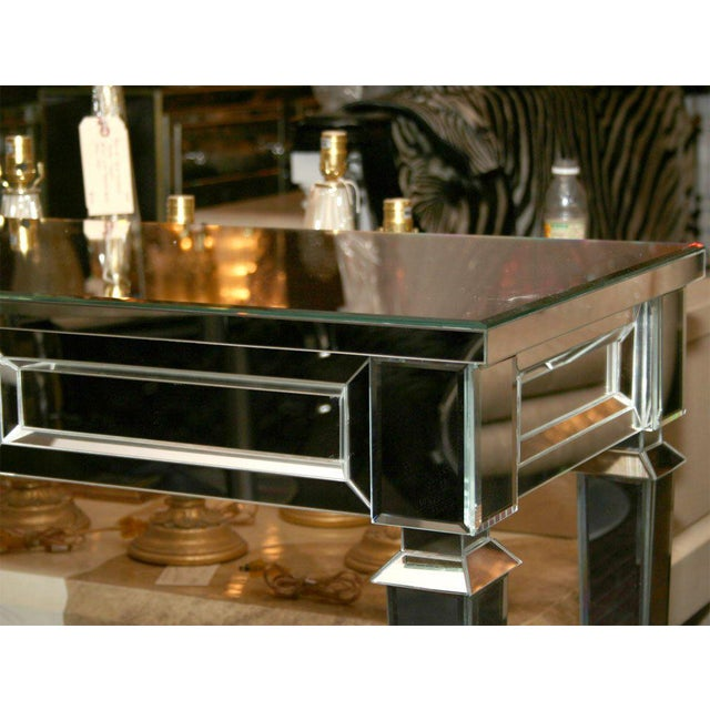 Custom Mirrored Console Table with 1 Center Drawer