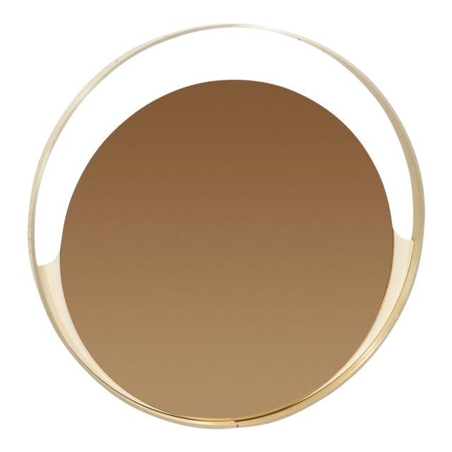 Rimadesio Round Bronze Mirror For Sale