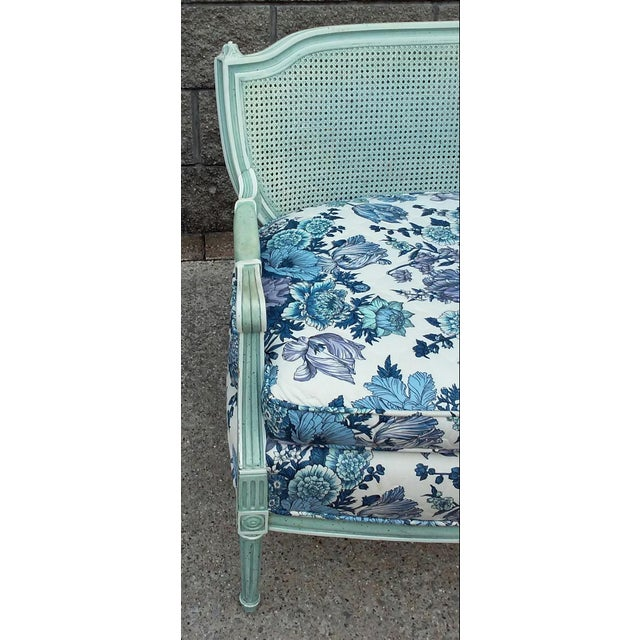 French Cane Back Settee For Sale - Image 4 of 9