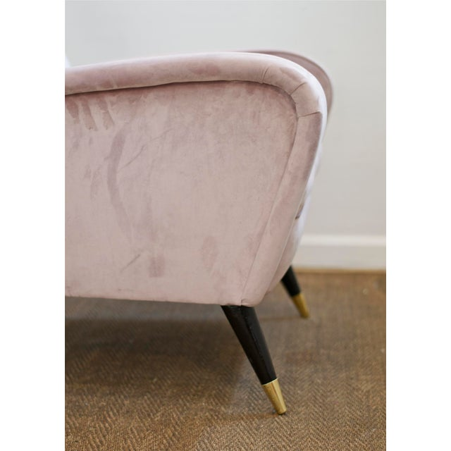 Luxe Lounge Chairs in Lilac For Sale - Image 6 of 11