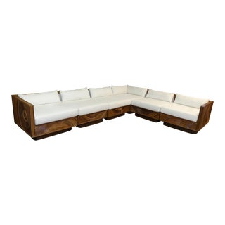 Pencil Reed Modular Sectional in the Style of Gabriella Crespi For Sale