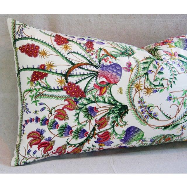 Gucci Designer Italian Gucci Floral Fanni Silk Pillow For Sale - Image 4 of 11