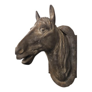 Cast Iron Horse Bust For Sale