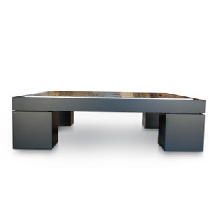 Mantra Cocktail Table With Unique Etched Nickel Artwork. Signed by Artist Preview