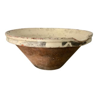 Antique French Earthenware Tian Bowl, Mid-19th Century For Sale