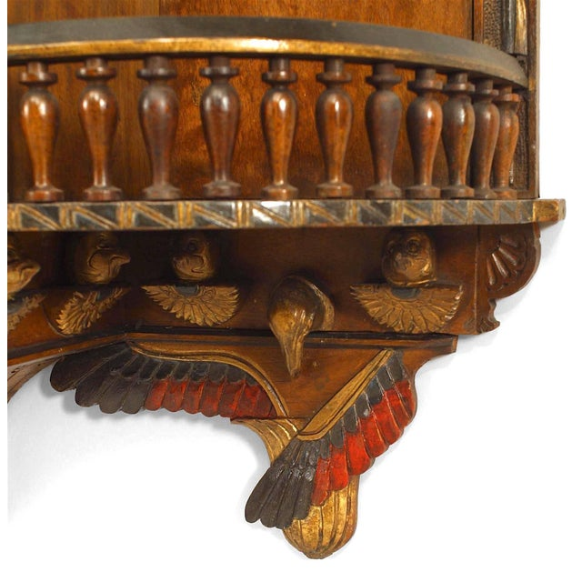 Egyptian Revival Egyptian Style Painted Hanging Wall Cabinet For Sale - Image 3 of 10