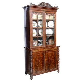 English Mahogany William IV Bookcase For Sale