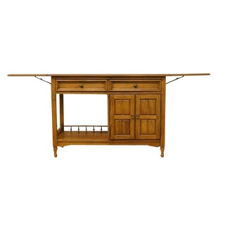 20th Century Traditional Thomasville Furniture Monterey Collection Drop-Leaf Server For Sale