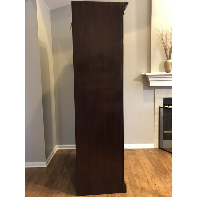 1980s Ethan Allen Georgian Court Solid Cherry Armoire For Sale - Image 5 of 11