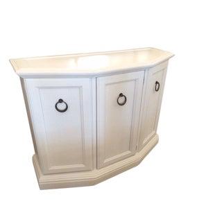 Vintage Hollywood Regency White Foyer Cabinet For Sale