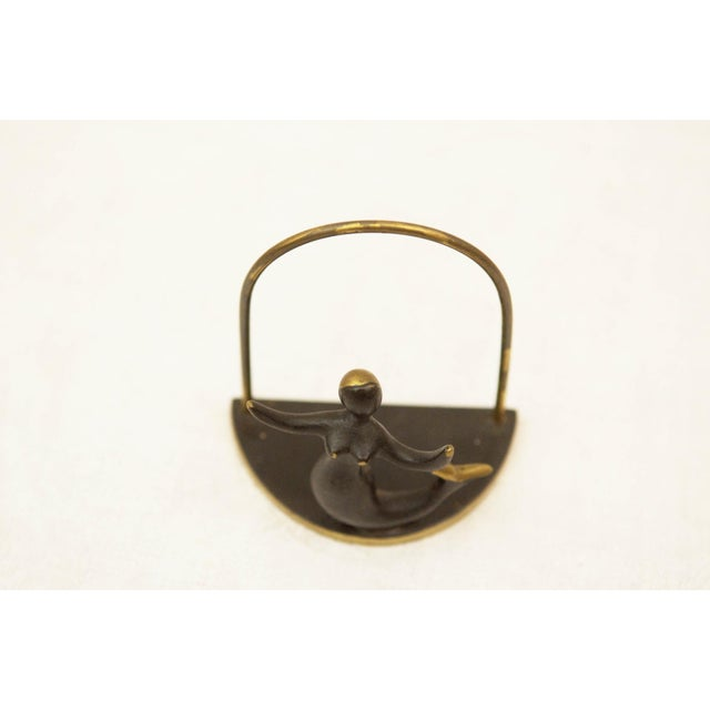 This napkin holder was designed by Hertha Baller in the 1950s. It is made of brass and is in a very good vintage condition.
