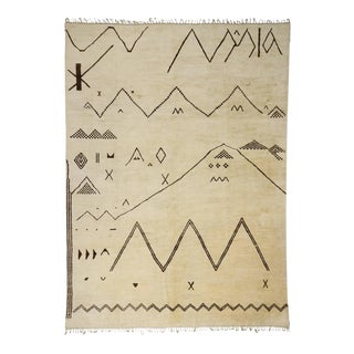Contemporary Moroccan Rug with Modern Tribal Style, 13'6 x 18'4