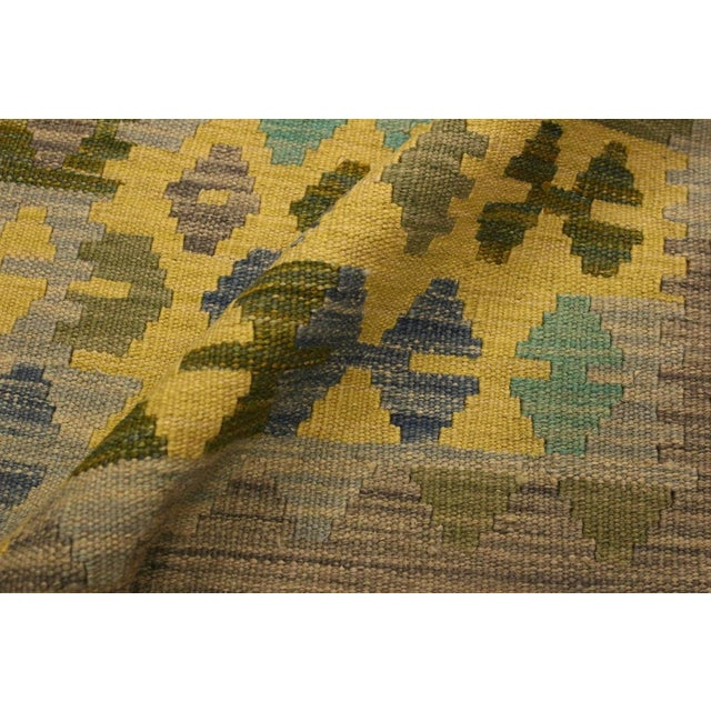 2010s Kilim Arya Jaquelin Gray/Gold Wool Rug -2'8 X 4'2 For Sale - Image 5 of 8