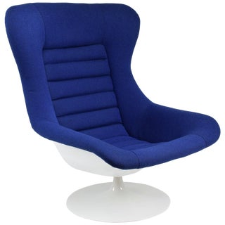 Midcentury Vintage Swivel Lounge Chair by Lurashell, 1960s For Sale