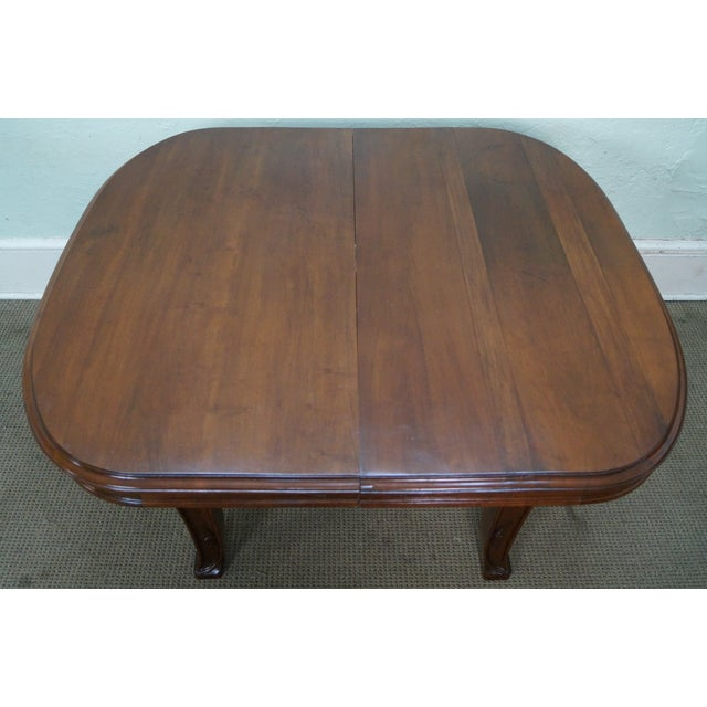 Brown Antique French Art Nouveau Walnut Dining Table For Sale - Image 8 of 10