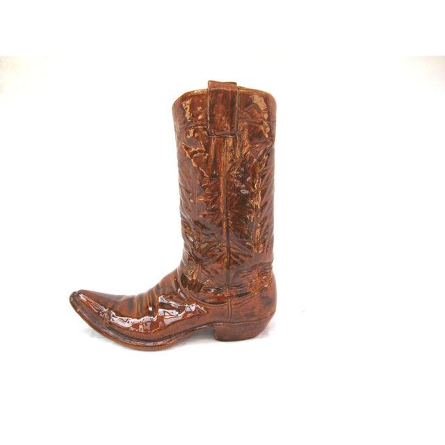 Vintage Ceramic Cowboy Boot Vase - Image 2 of 8