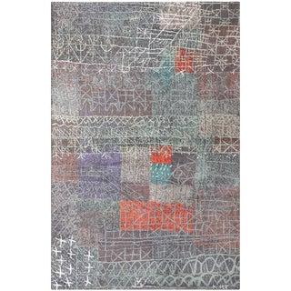 Vintage Mid-Century Paul Klee Ege Art Line Rug - 6′ × 9′2″ For Sale