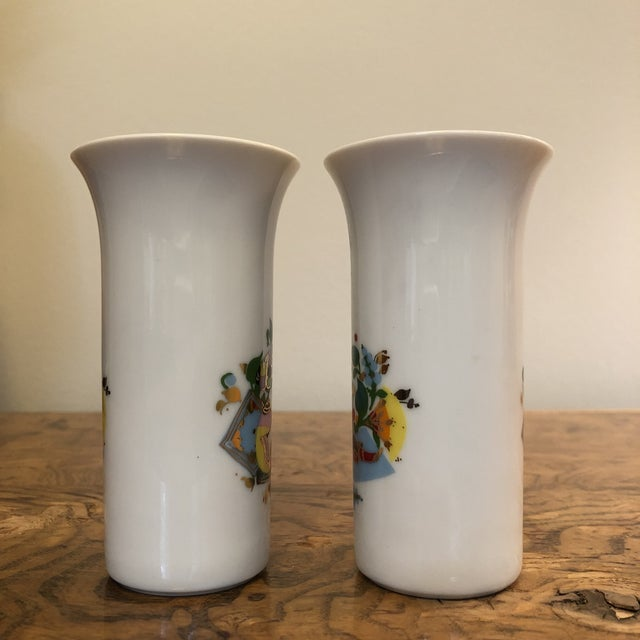 Ceramic Pair of Cordial Glasses by Bjorn Wiinblad For Sale - Image 7 of 11