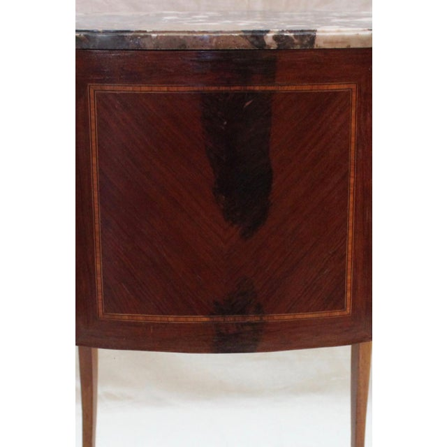 Gold 1920s Louis XVI Style Mahogany Marquetry Commode For Sale - Image 8 of 10