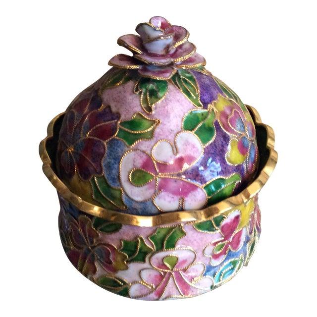 Cloisonné Floral Box - Image 1 of 5
