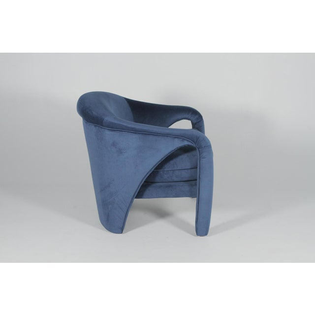 Contemporary 1970s Vintage Vladimir Kagan Indigo Sculptural Chairs - A Pair For Sale - Image 3 of 11