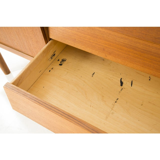 Nils Jonsson Danish Modern Louvered Credenza For Sale - Image 7 of 10