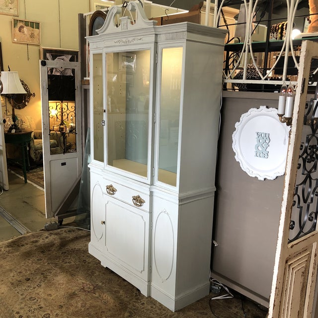 Vintage Federal Style China Cabinet For Sale - Image 10 of 11