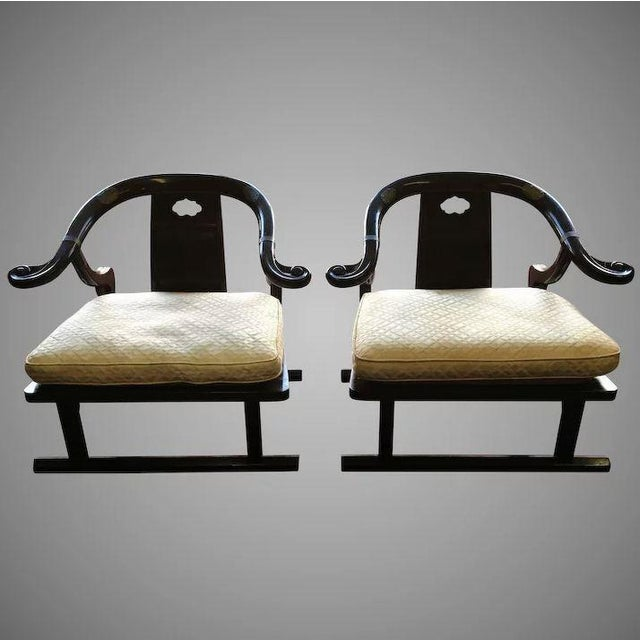 Baker Furniture Far East Collection Arm Chairs #2510 by Michael Taylor - a Pair For Sale - Image 11 of 11