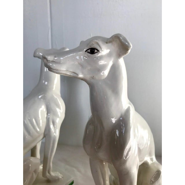 Blanc De Chine Italian Greyhound's , a Pair For Sale - Image 11 of 13