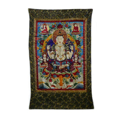 Embroidery Tibetan Tara Buddha Thangka Art - Image 1 of 10