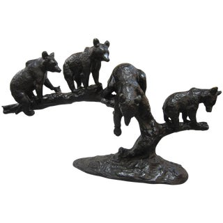 Large Bronze Group of Four Bears by Anton Buschelberger, 1920 For Sale