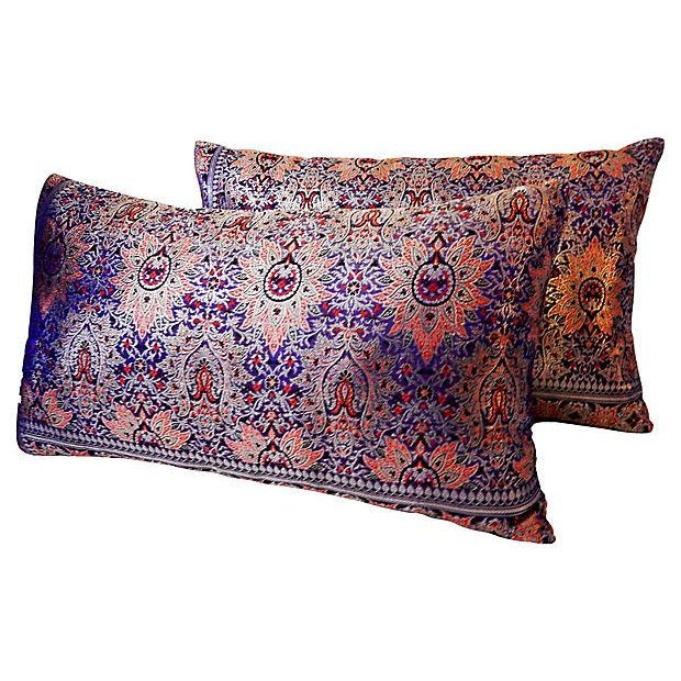 Lumbar Thai Silk Pillows, S/2 - Image 5 of 5
