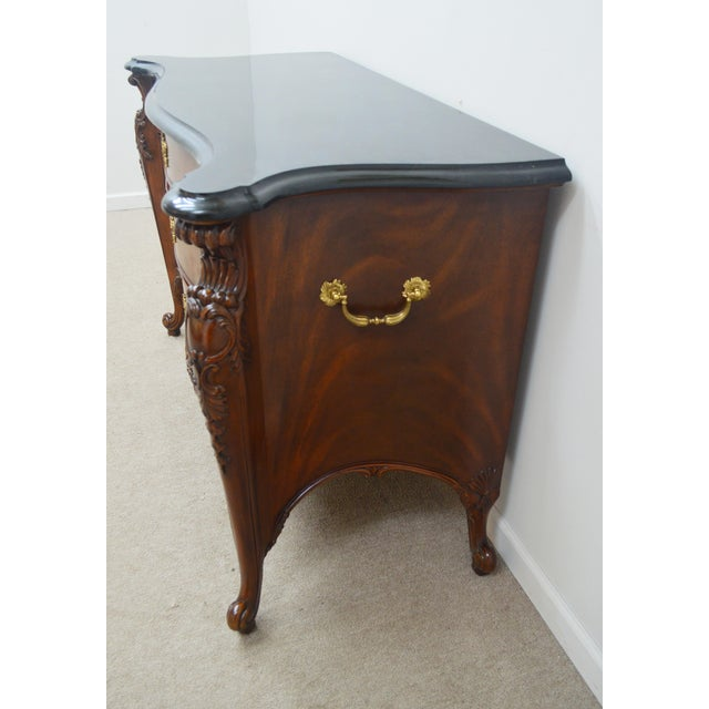 Brown Maitland Smith Mahogany Chippendale Dresser Chest Commode For Sale - Image 8 of 13