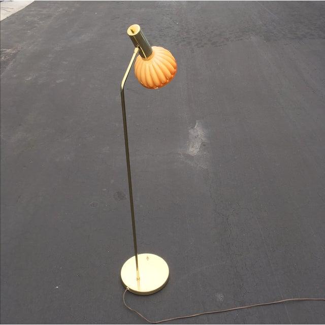 Mid-Century Brass & Acrylic Floor Lamp - Image 4 of 9