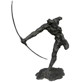 Bronze Sculpture of an Archer by Zoran Males For Sale
