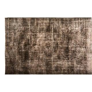 "Vintage Turkish Anatolian Whitewash Hand Knotted Organic Wool Fine Weave Rug,6'1""x9'6"" For Sale"